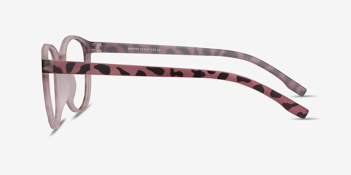 Shifter Pink Tortoise Plastic Eyeglass Frames from EyeBuyDirect, Side View