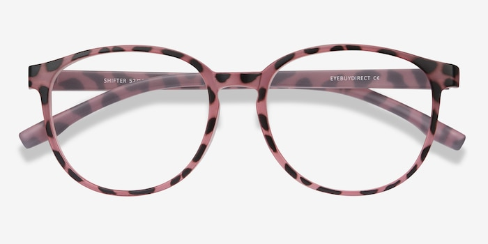 Shifter Pink Tortoise Plastic Eyeglass Frames from EyeBuyDirect, Closed View