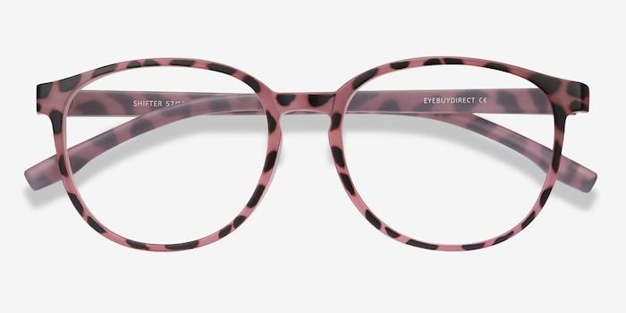 Shifter Pink Tortoise Plastique Montures de Lunettes d'EyeBuyDirect, Vue Rapprochée