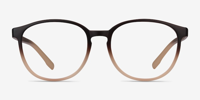Shifter Brown Plastic Eyeglass Frames from EyeBuyDirect, Front View