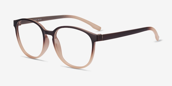 Shifter Brown Plastic Eyeglass Frames from EyeBuyDirect, Angle View