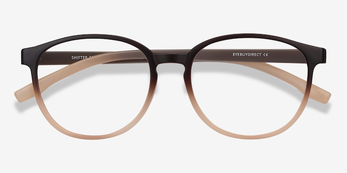 Shifter Brown Plastic Eyeglass Frames from EyeBuyDirect, Closed View