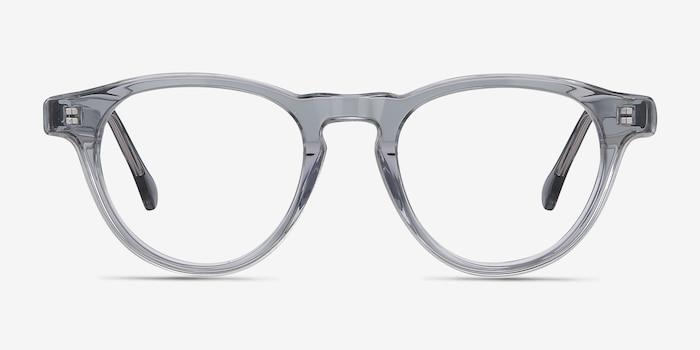 Marine Clear Gray Acétate Montures de Lunettes d'EyeBuyDirect, Vue de Face
