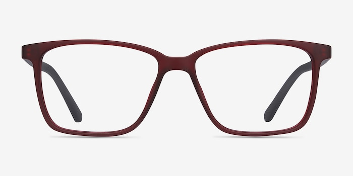 Alaska Red Plastic Eyeglass Frames from EyeBuyDirect, Front View