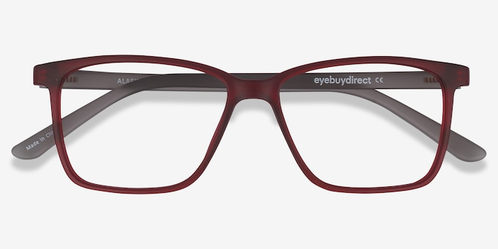 Alaska Red Plastic Eyeglass Frames from EyeBuyDirect, Closed View