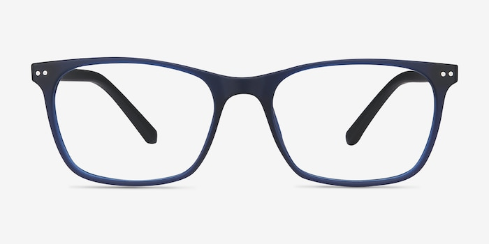 Arctic Blue Plastic Eyeglass Frames from EyeBuyDirect, Front View