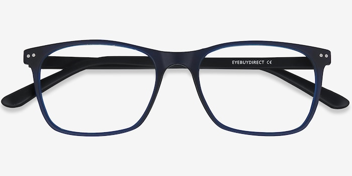 Arctic Blue Plastic Eyeglass Frames from EyeBuyDirect, Closed View
