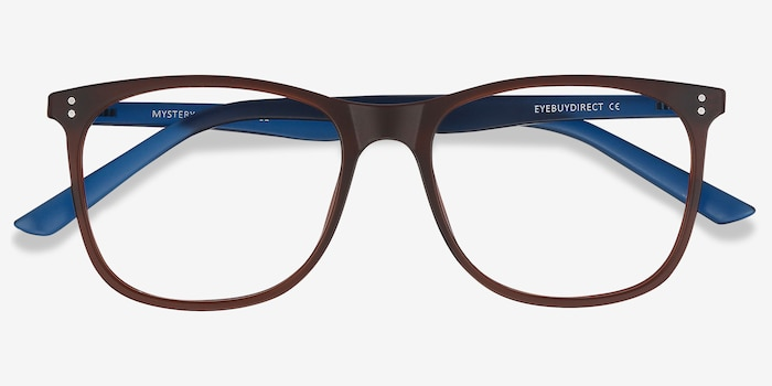 Mystery Brown Plastic Eyeglass Frames from EyeBuyDirect, Closed View
