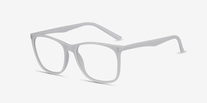 Mystery Gray Plastic Eyeglass Frames from EyeBuyDirect, Angle View