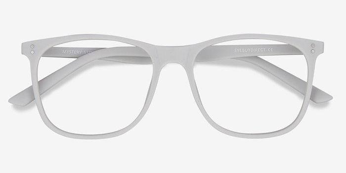 Mystery Gray Plastic Eyeglass Frames from EyeBuyDirect, Closed View