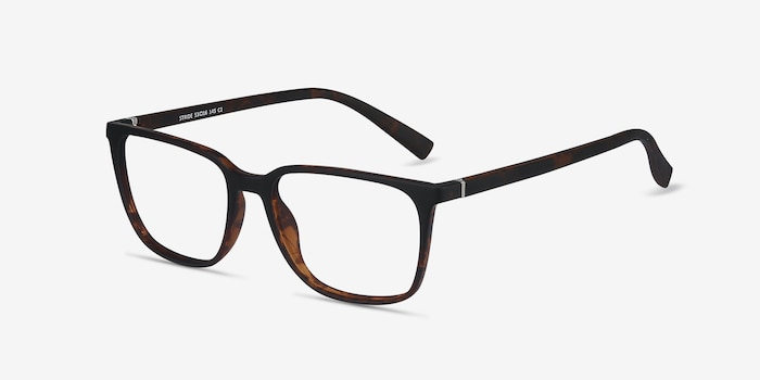 Stride Tortoise Plastic Eyeglass Frames from EyeBuyDirect, Angle View