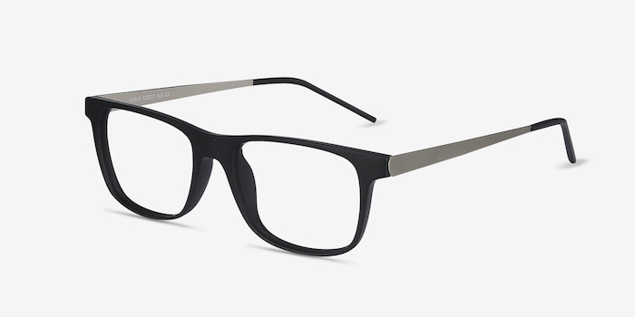 Karat Black Metal Eyeglass Frames from EyeBuyDirect, Angle View
