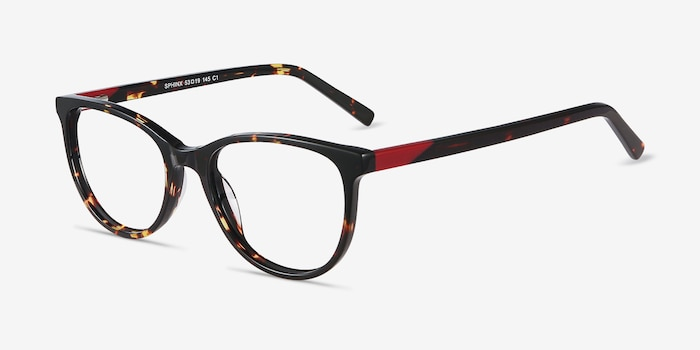 Sphinx Tortoise Acetate Eyeglass Frames from EyeBuyDirect, Angle View