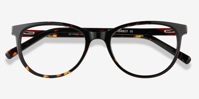 Sphinx Tortoise Acetate Eyeglass Frames from EyeBuyDirect, Closed View