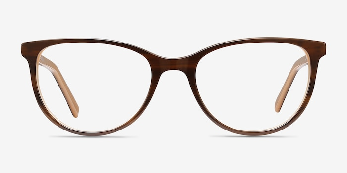 Sphinx Striped Acetate Eyeglass Frames from EyeBuyDirect, Front View