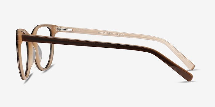 Sphinx Striped Acetate Eyeglass Frames from EyeBuyDirect, Side View