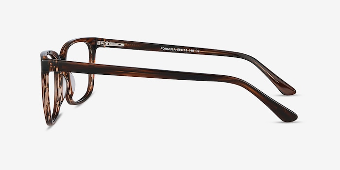 Formula Brown Striped Acetate Eyeglass Frames from EyeBuyDirect, Side View