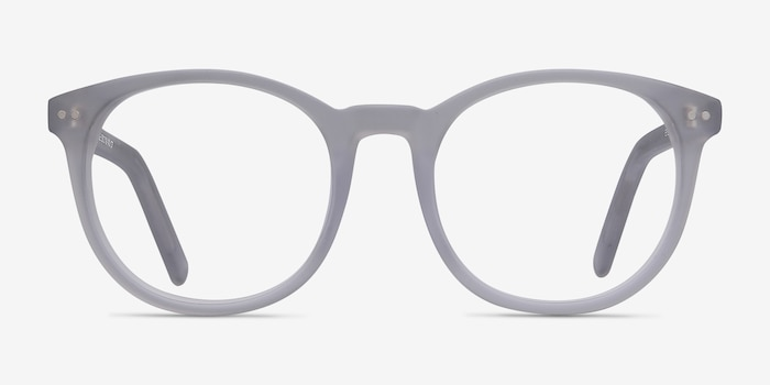 Primrose Matte Clear Acetate Eyeglass Frames from EyeBuyDirect, Front View