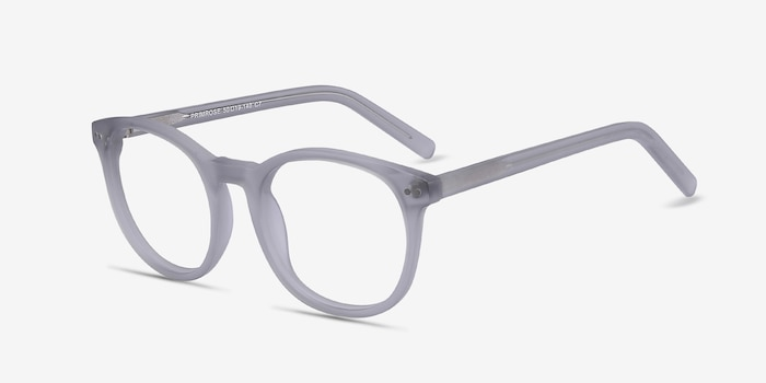 Primrose Matte Clear Acetate Eyeglass Frames from EyeBuyDirect, Angle View