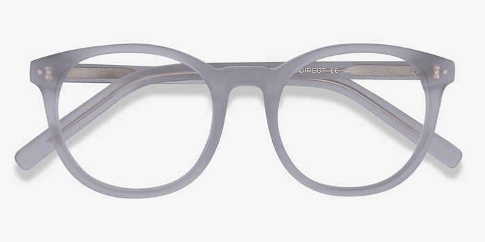 Primrose Matte Clear Acetate Eyeglass Frames from EyeBuyDirect, Closed View
