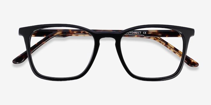 Phoenix Black Tortoise Acetate Eyeglass Frames from EyeBuyDirect, Closed View
