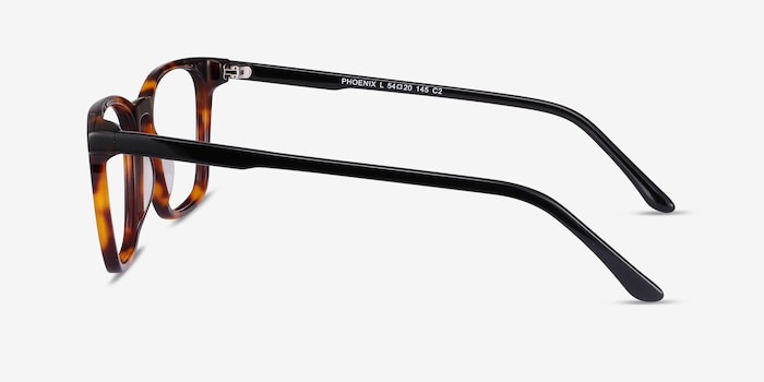 Phoenix Tortoise Acetate Eyeglass Frames from EyeBuyDirect, Side View