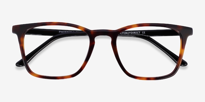 Phoenix Tortoise Acetate Eyeglass Frames from EyeBuyDirect, Closed View