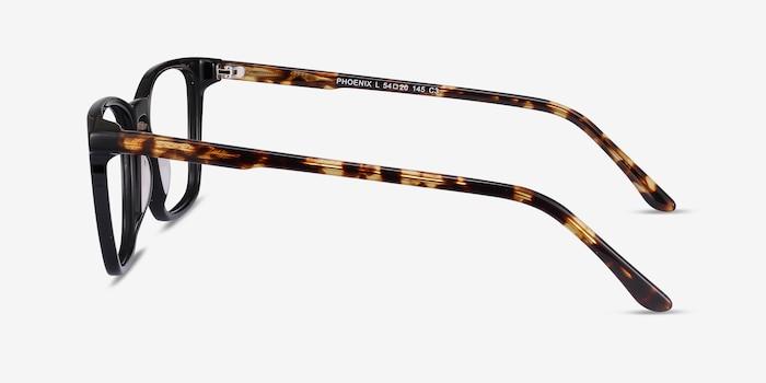 Phoenix Black Tortoise Acetate Eyeglass Frames from EyeBuyDirect, Side View