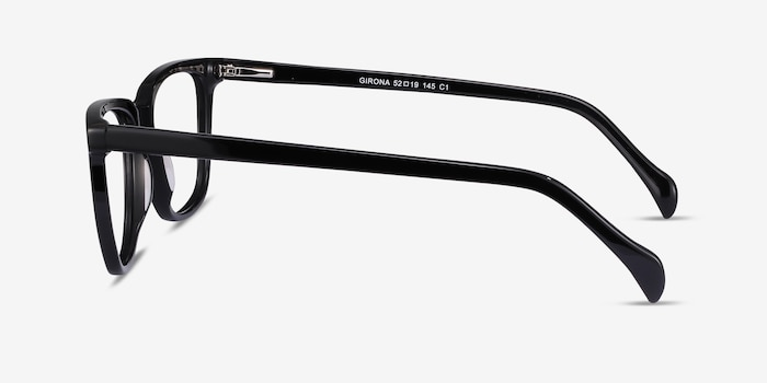 Girona Black Acetate Eyeglass Frames from EyeBuyDirect, Side View
