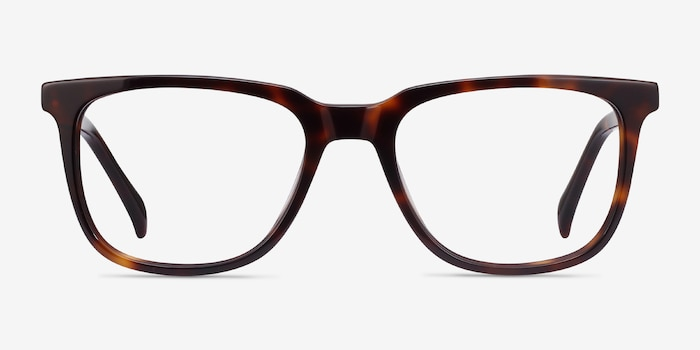 Girona Tortoise Acetate Eyeglass Frames from EyeBuyDirect, Front View