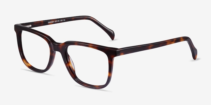 Girona Tortoise Acetate Eyeglass Frames from EyeBuyDirect, Angle View