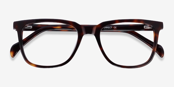 Girona Tortoise Acetate Eyeglass Frames from EyeBuyDirect, Closed View