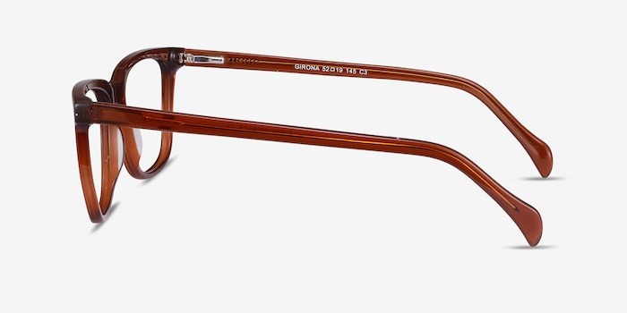 Girona Brown Acetate Eyeglass Frames from EyeBuyDirect, Side View