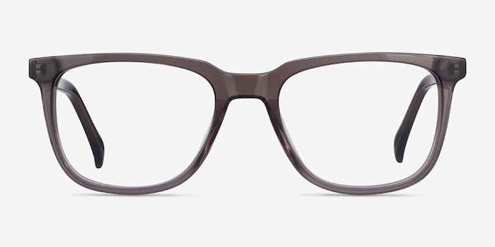 Girona Gray Acetate Eyeglass Frames from EyeBuyDirect, Front View