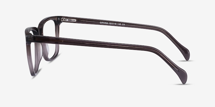 Girona Gray Acetate Eyeglass Frames from EyeBuyDirect, Side View
