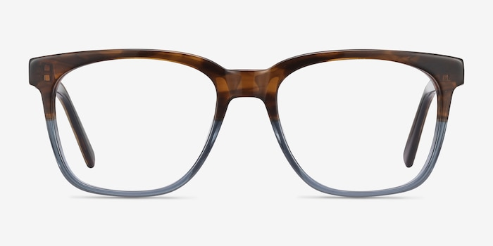 Jamie Brown Striped Acetate Eyeglass Frames from EyeBuyDirect, Front View