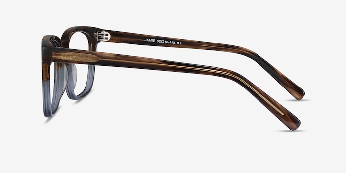 Jamie Brown Striped Acetate Eyeglass Frames from EyeBuyDirect, Side View