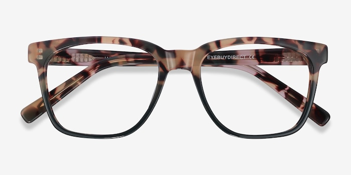 Jamie Tortoise & Green Acetate Eyeglass Frames from EyeBuyDirect, Closed View