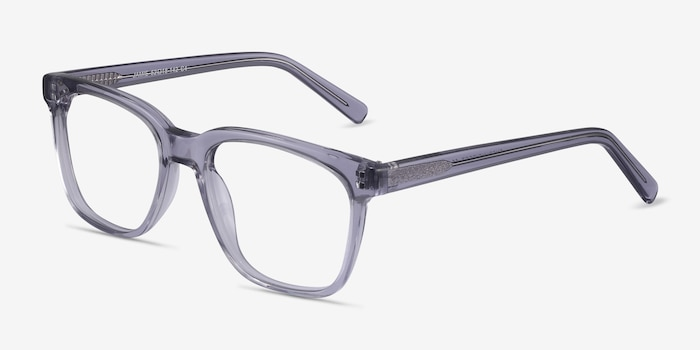 Jamie Gray Acetate Eyeglass Frames from EyeBuyDirect, Angle View