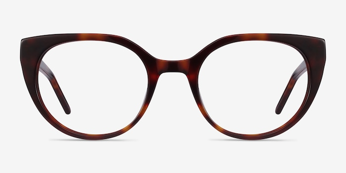 Rhyme Tortoise Acetate Eyeglass Frames from EyeBuyDirect, Front View