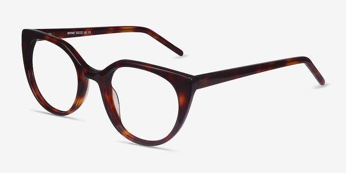 Rhyme Tortoise Acetate Eyeglass Frames from EyeBuyDirect, Angle View