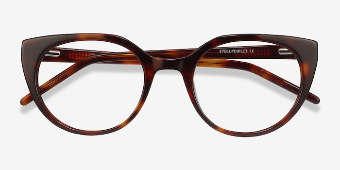 Rhyme Tortoise Acetate Eyeglass Frames from EyeBuyDirect, Closed View