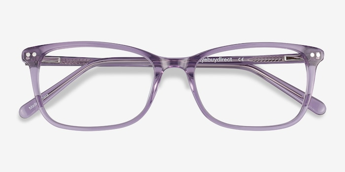 Alette Clear Purple Acetate Eyeglass Frames from EyeBuyDirect, Closed View