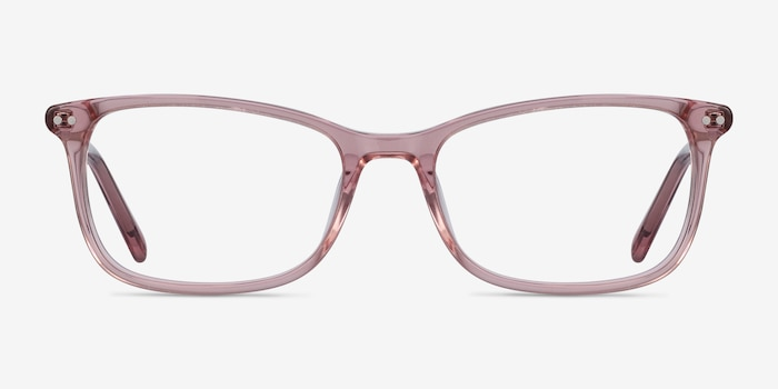 Alette Clear Pink Acetate Eyeglass Frames from EyeBuyDirect, Front View