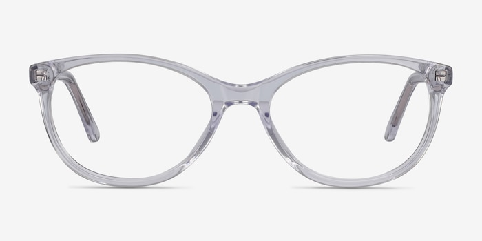 Depth Clear Acetate Eyeglass Frames from EyeBuyDirect, Front View