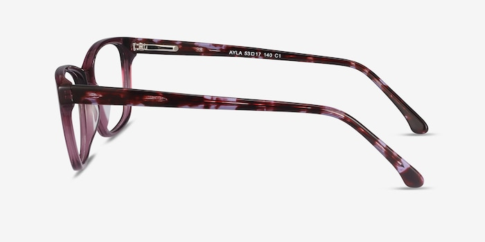 Ayla Purple Acetate Eyeglass Frames from EyeBuyDirect, Side View