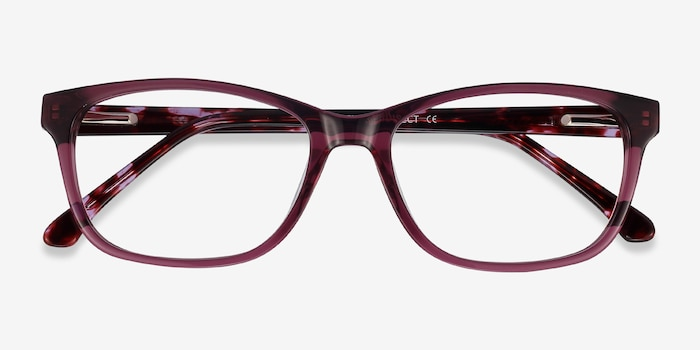 Ayla Purple Acetate Eyeglass Frames from EyeBuyDirect, Closed View