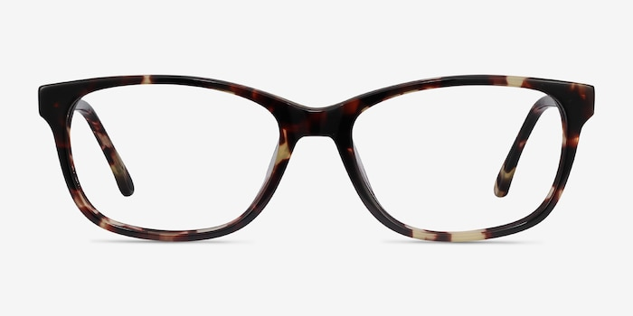 Ayla Tortoise Acetate Eyeglass Frames from EyeBuyDirect, Front View