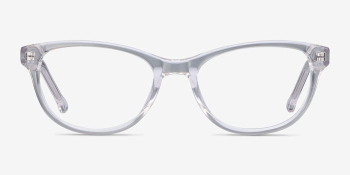 Thinker Clear Acetate Eyeglass Frames from EyeBuyDirect, Front View