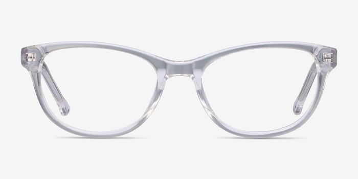 Thinker Transparent Acétate Montures de Lunettes d'EyeBuyDirect, Vue de Face